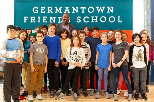 MLB Champion Ryan Howard Shares Reflections on Public Service at Germantown Friends School