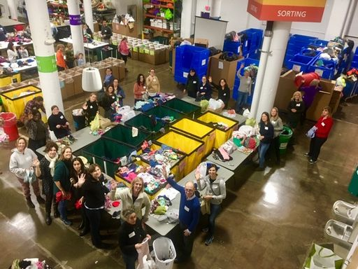 Parents Association Leads Volunteer Event at Cradles to Crayons on Giving Tuesday