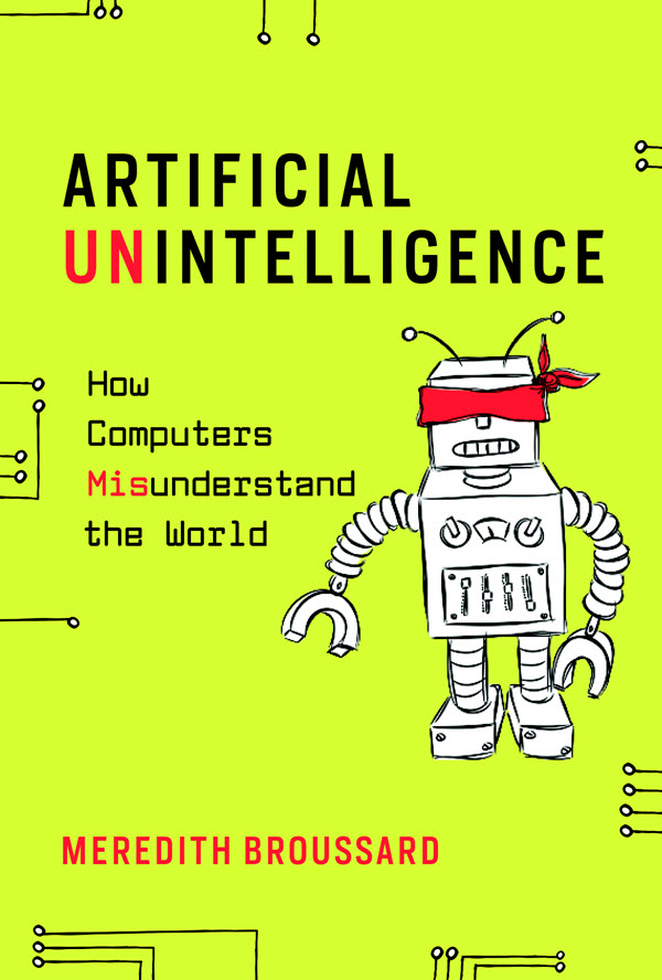 Book cover with a robot on it for Artificial Intelligence